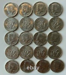 Lot of (20) 1964 Kennedy Silver Half Dollars 90% Silver Free Ship