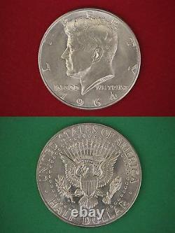 MAKE OFFER $5.00 Face Value 90% Silver 1964 John Kennedy Half Dollars Junk Coins