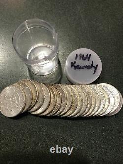 One Roll 1964 Kennedy Half Dollars 90% Silver (20 Coins)