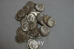 One Roll of 20 1964 Kennedy Half Dollars 90% SILVER