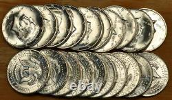 Original Choice to GEM BU Roll of 20 1964-D Kennedy Half Dollars