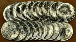 Original Choice to GEM BU Roll of 20 1964 Kennedy Half Dollars