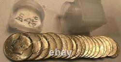 ROLL of 20 BU 1964-D Kennedy 90% silver half dollar coins
