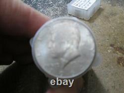 Roll Of 20 UNC BU 1964 KENNEDY HALF DOLLARS