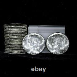Roll of 20 1964 Kennedy Half Dollars Uncirculated/Circulated Mix- 90% Silver