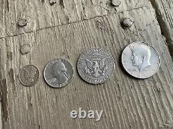 SILVER $1.35 Kennedy Half Dollar All SILVER Gimmick! Vintage Coin Magic