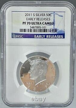 Silver Proof 2011 S Kennedy Half Dollar NGC PF70 ULTRA CAMEO! Rare