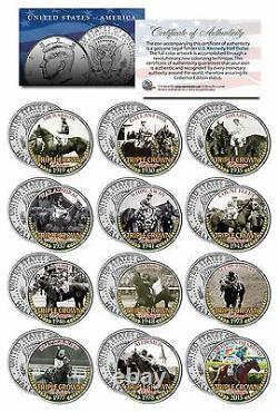 Triple Crown Winners Jfk Half Dollar 12 Coin Set! American Pharoah/secretariat